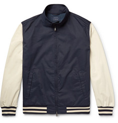 Incotex + nanamica Colour-Block Twill Bomber Jacket