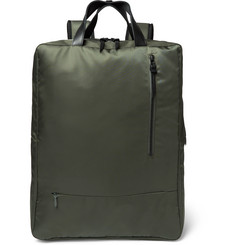 Incotex - + nanamica City Leather-Trimmed Nylon Backpack