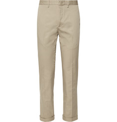 Incotex Slim-Fit Stretch-Cotton Gabardine Trousers