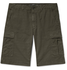 Incotex Stretch-Cotton Ripstop Cargo Shorts