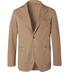 Aspesi Tan Slim-Fit Unstructured Garment-Dyed Cotton Blazer