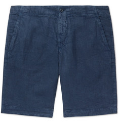 Aspesi Slim-Fit Garment-Dyed Linen Drawstring Shorts
