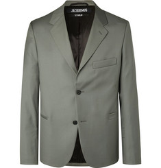 Jacquemus - Grey-Green Virgin Wool Suit Jacket