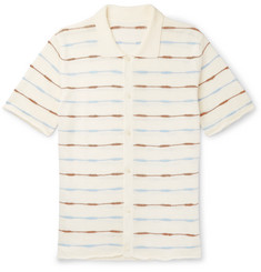 Jacquemus Slim-Fit Striped Knitted Linen Shirt