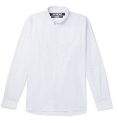 Jacquemus Simon Button-Down Collar Striped Cotton Shirt