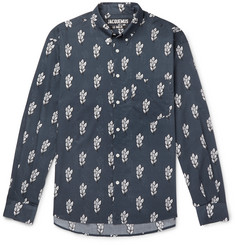 Jacquemus Simon Button-Down Collar Printed Cotton-Gauze Shirt