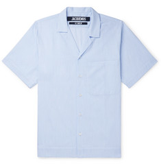Jacquemus Camp-Collar Striped Cotton Shirt