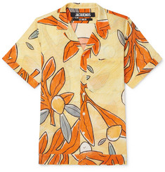 Jacquemus Camp-Collar Floral-Print Cotton-Gauze Shirt