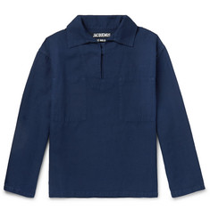Jacquemus Le Marin Linen and Cotton-Blend Half-Placket Shirt