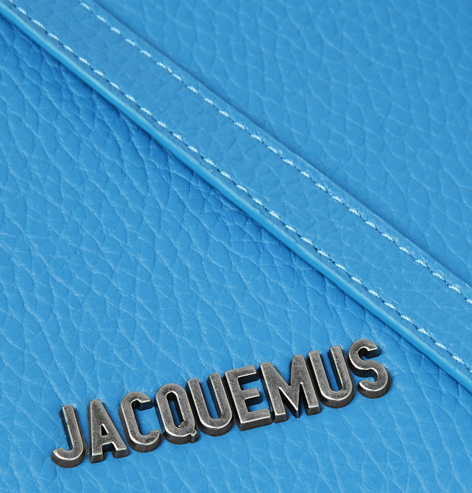 Pouch Zip Full Logo Around Leather Grain Appliquéd Jacquemus xqU406R