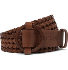 Jacquemus - 3cm Brown Woven Leather Belt