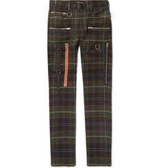 Undercover - Skinny-Fit Checked Wool Trousers