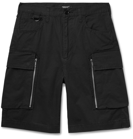 Cotton Twill Cargo Shorts by Undercover