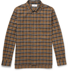 Mr P. - Checked Brushed-Cotton Shirt