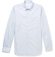 Mr P. Striped cotton-poplin shirt