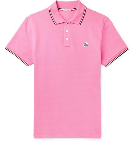 c37c2a42d Moncler - Contrast-Tipped Cotton-Piqué Polo Shirt