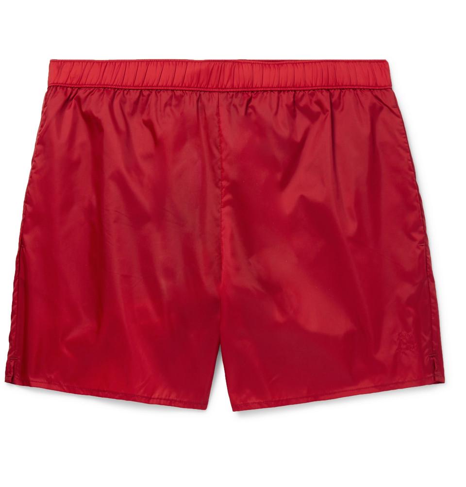 Warrick Mid-length Swim Shorts - Red