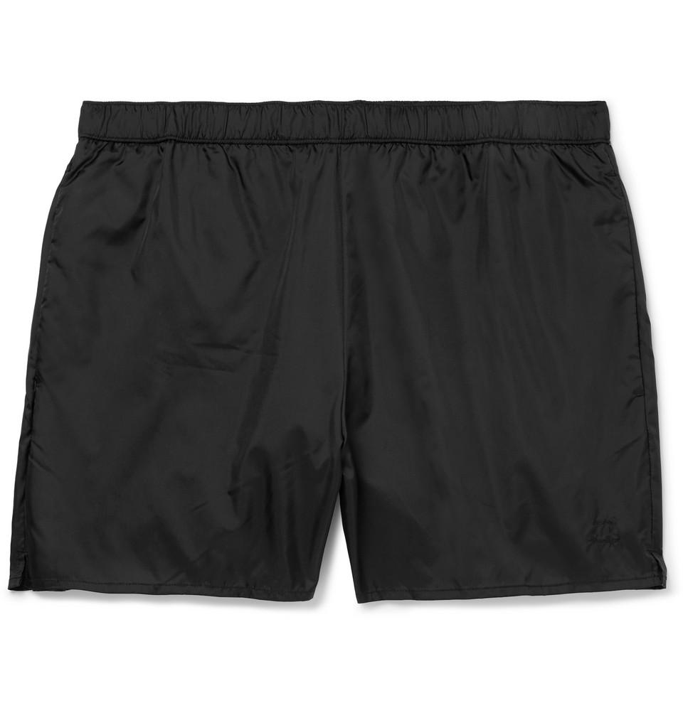 Warrick Mid-length Swim Shorts - Black