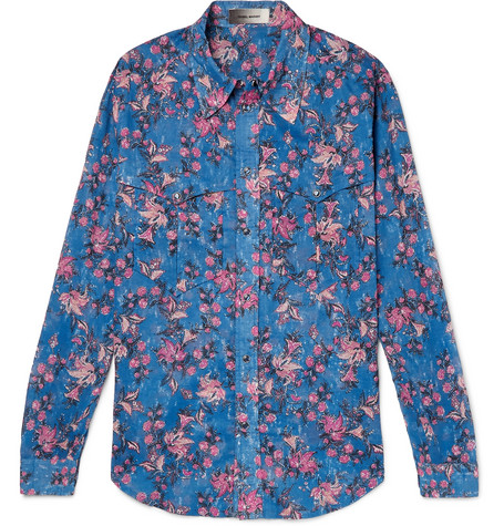 Nicson Slim Fit Printed Cotton Shirt by Isabel Marant