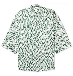 Haider Ackermann Oversized Printed Voile Shirt