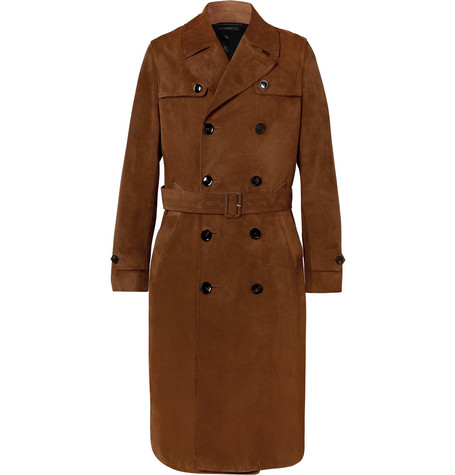 TOM FORD | TOM FORD - Suede Trench Coat - Tan | Goxip