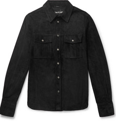 TOM FORD Slim-Fit Suede Shirt Jacket