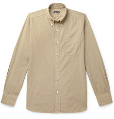 TOM FORD Slim-Fit Button-Down Collar Cotton Shirt