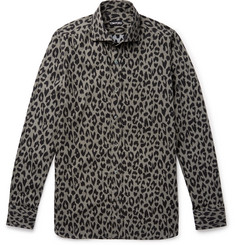 TOM FORD Slim-Fit Leopard-Print Cotton-Blend Shirt
