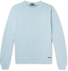 TOM FORD - Garment-Dyed Loopback Cotton-Jersey Sweatshirt