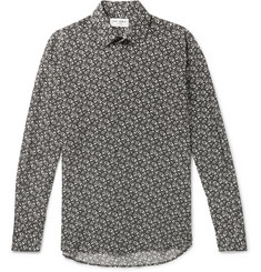 Saint Laurent Slim-Fit Printed Silk Crepe De Chine Shirt