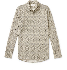 Saint Laurent Paisley-Print Wool Shirt