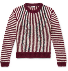 SAINT LAURENT - Slim-Fit Striped Wool-Blend Sweater
