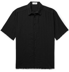 Saint Laurent Frayed Cotton-Gauze Shirt