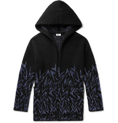 SAINT LAURENT - Bahar Sequin-Embellished Knitted Hooded Cardigan