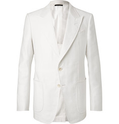 TOM FORD - White Shelton Slim-Fit Cotton and Linen-Blend Suit Jacket