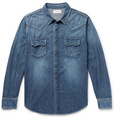 Saint Laurent Slim-Fit Denim Western Shirt