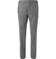 TOM FORD - Shelton Slim-Fit Checked Wool, Mohair and Silk-Blend Suit Trousers