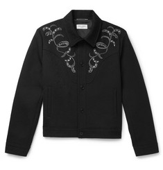Saint Laurent Slim-Fit Embellished Wool-Brocade Jacket