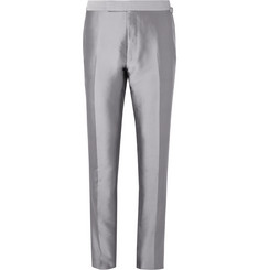 TOM FORD Silver Shelton Twill Suit Trousers
