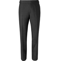 TOM FORD Black O'Connor Slim-Fit Silk-Shantung Suit Trousers
