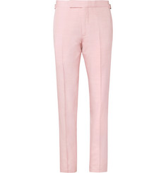 TOM FORD Pastel-Pink Silk-Shantung Suit Trousers