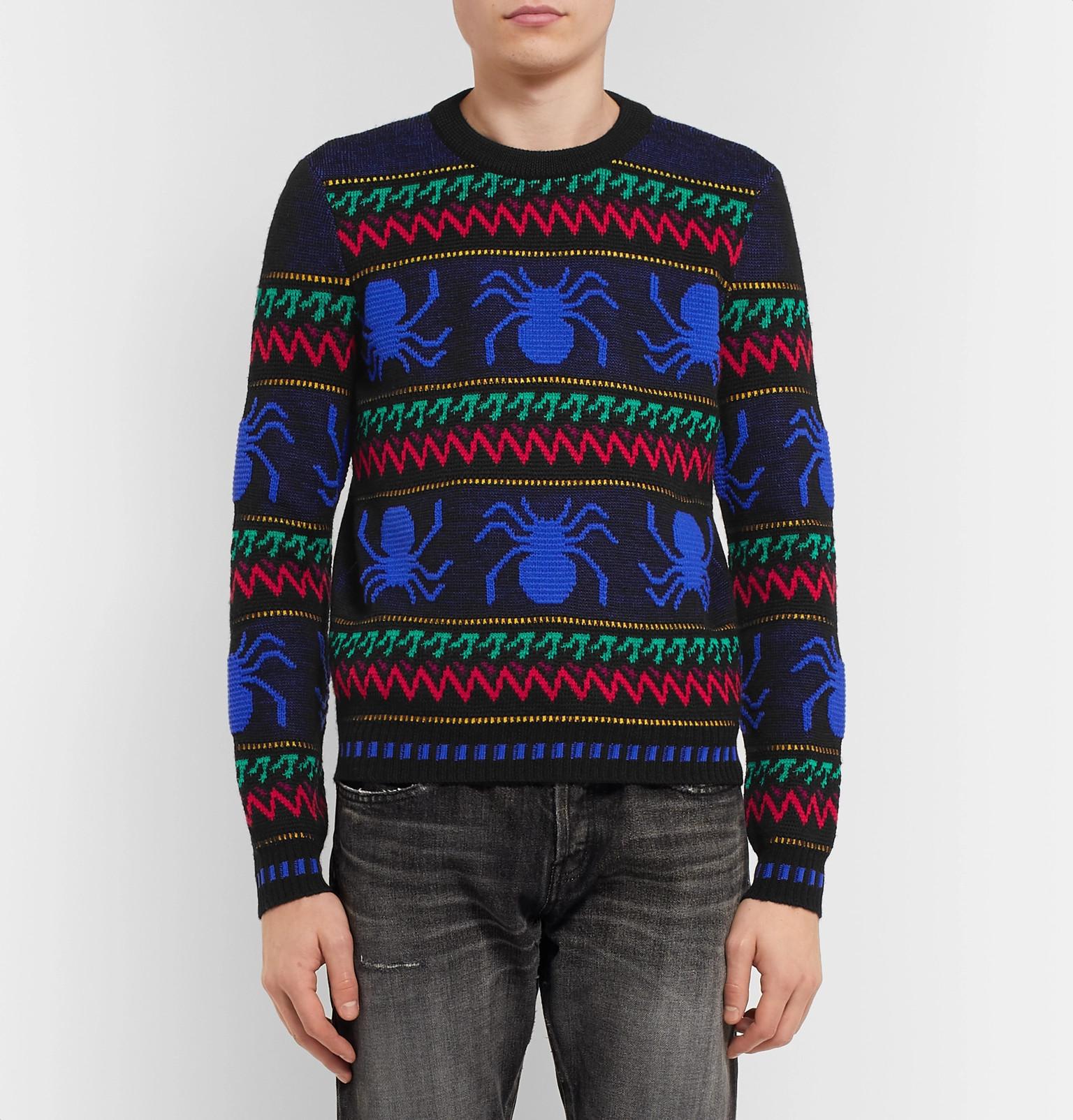 Intarsia Spider Saint Fit Sweater Laurentslim Wool wTPvCx0q