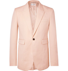 Saint Laurent Pink Slim-Fit Virgin Wool Blazer