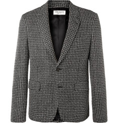 Saint Laurent Silver Slim-Fit Woven Blazer