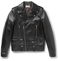 Saint Laurent Full-Grain Leather Biker Jacket