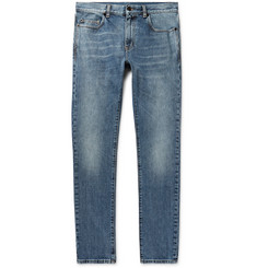 Saint Laurent Skinny-Fit 15cm Hem Distressed Denim Jeans