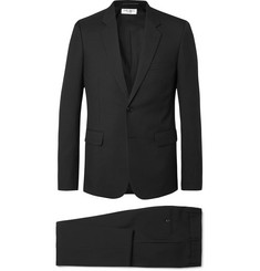 Black Slim-fit Virgin Wool-gabardine Suit - Black