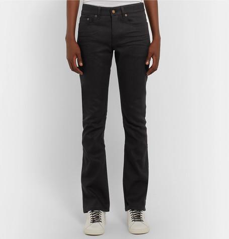 Skinny Fit Raw Stretch Denim Jeans by Saint Laurent