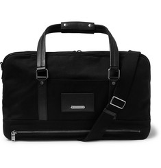 Saint Laurent - Leather-Trimmed Canvas Holdall