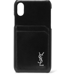 Saint Laurent - Logo-Detailed Leather iPhone X Case